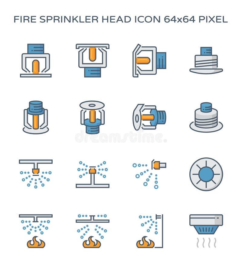 Pożarnicza kropidło ikona royalty ilustracja