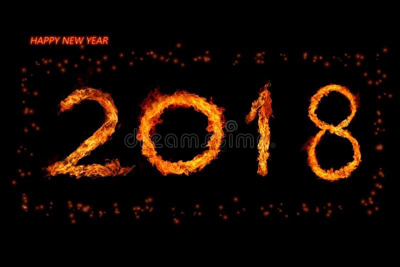 Pożarnicza liczba 2018 royalty ilustracja
