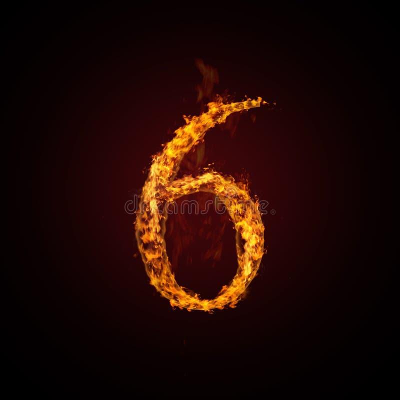 pożarnicza liczba royalty ilustracja