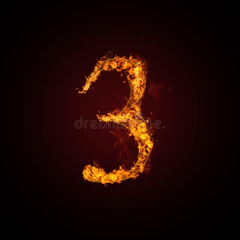 pożarnicza liczba ilustracja wektor