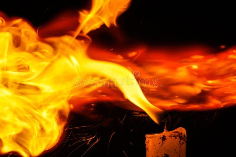 Pożarnicza oświetleniowa świeczka fotografia royalty free