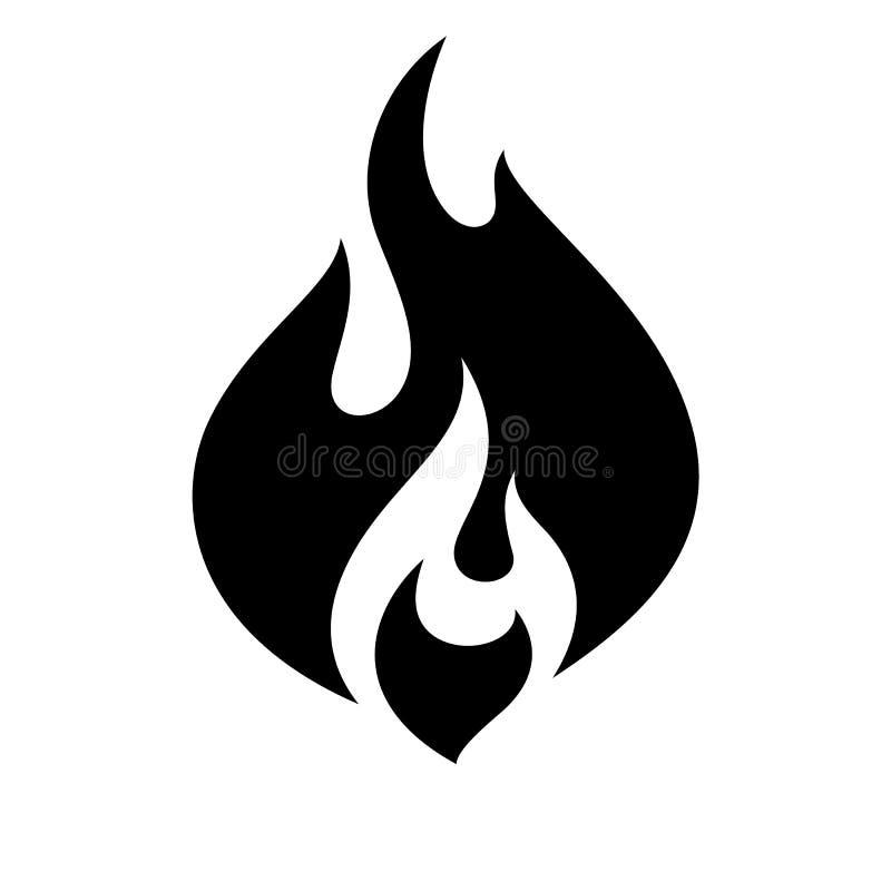 pożarnicza płomień ikona royalty ilustracja
