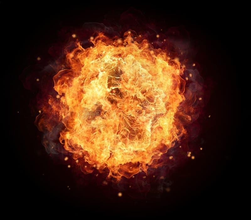 Pożarnicza piłka obraz stock