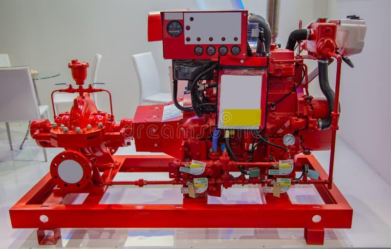 Pożarnicza pompa wodna fotografia stock