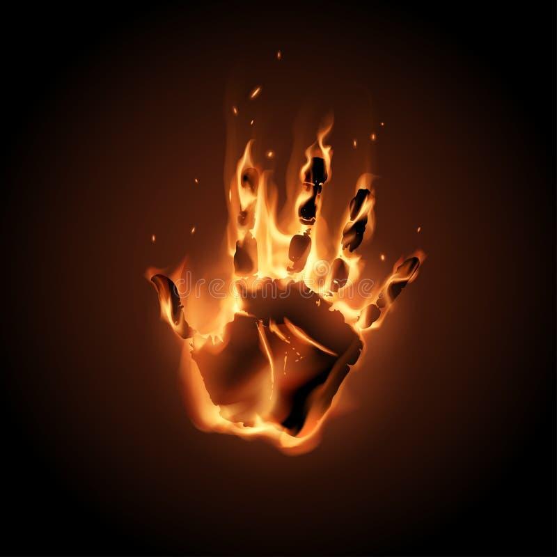 Pożarnicza ręki ilustracja ilustracji
