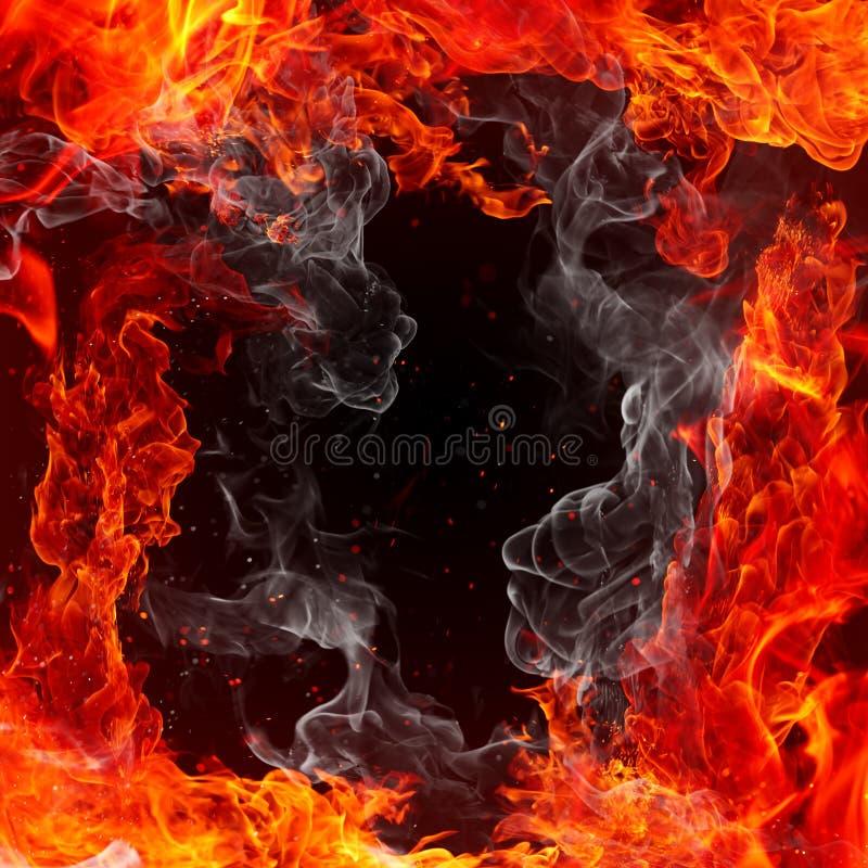 pożarnicza rama royalty ilustracja