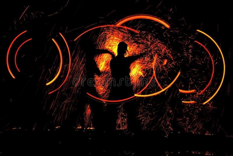 pożarnicza taniec noc royalty ilustracja