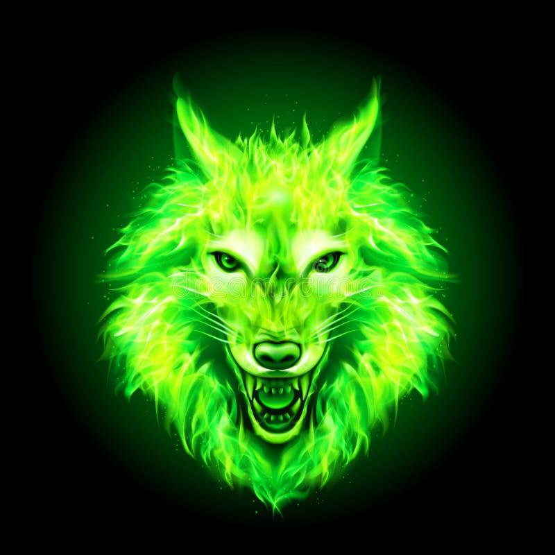 Pożarnicza wilk głowa ilustracja wektor