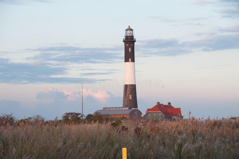 Pożarnicza wyspy latarnia morska obraz stock