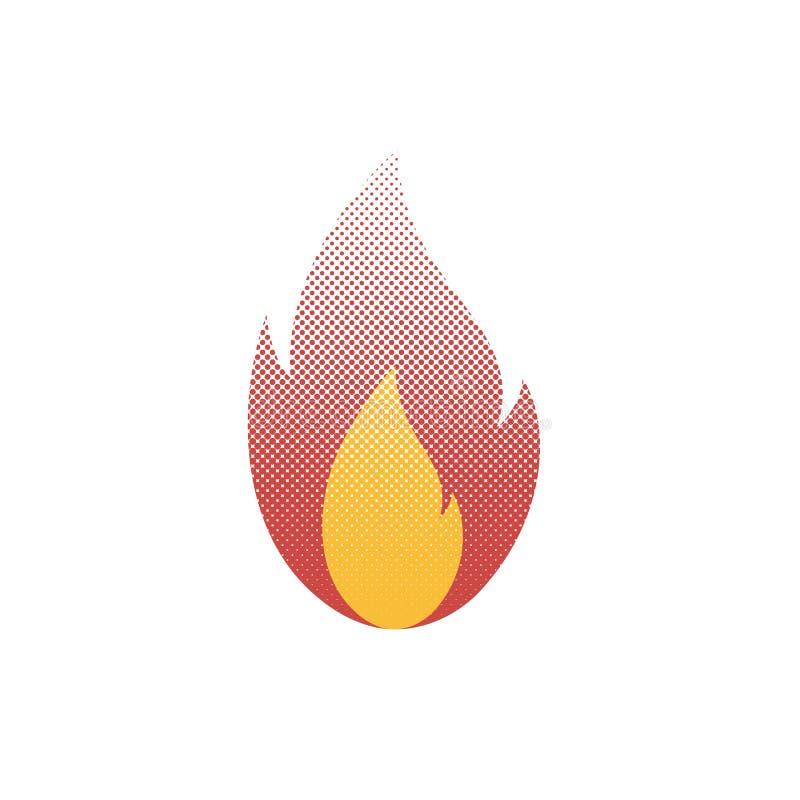 Pożarnicze halftone kropki royalty ilustracja