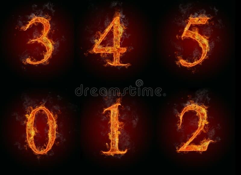 pożarnicze liczby ilustracji