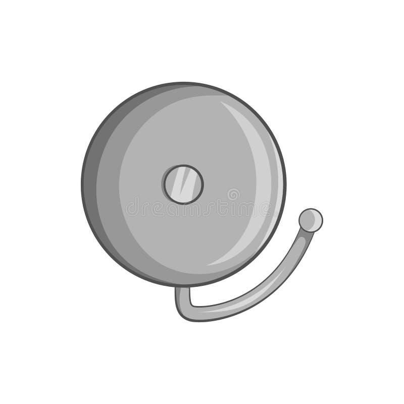 Pożarniczego alarma ikona, czarny monochromu styl ilustracja wektor