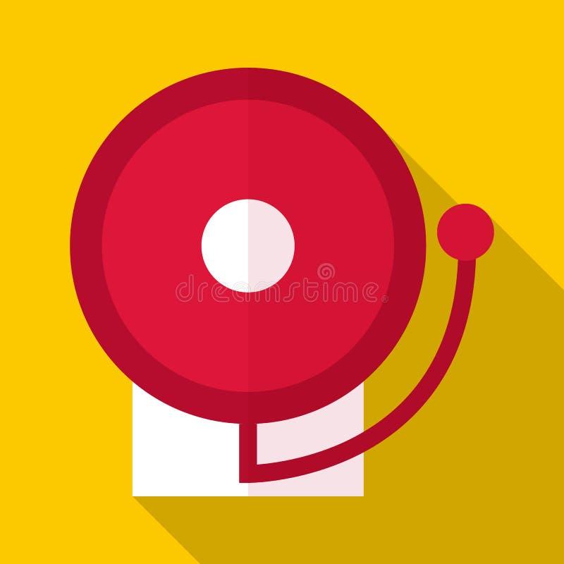 Pożarniczego alarma ikona, mieszkanie styl royalty ilustracja