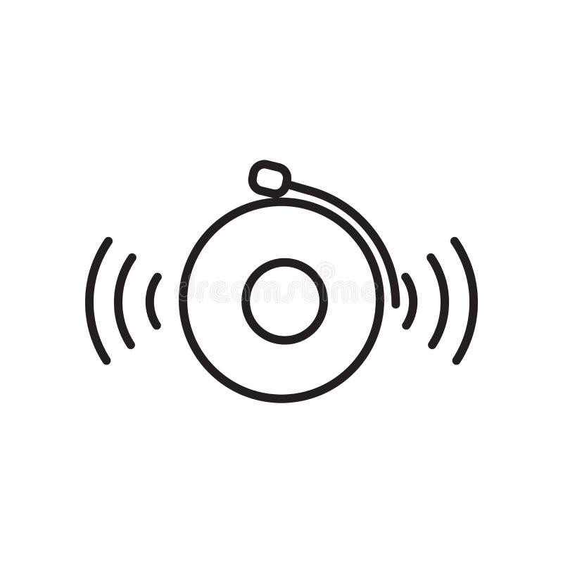 Pożarniczego alarma ikony wektor odizolowywający na białym tle, Pożarniczego alarma znak, znak i symbole w cienkim liniowym kontu royalty ilustracja