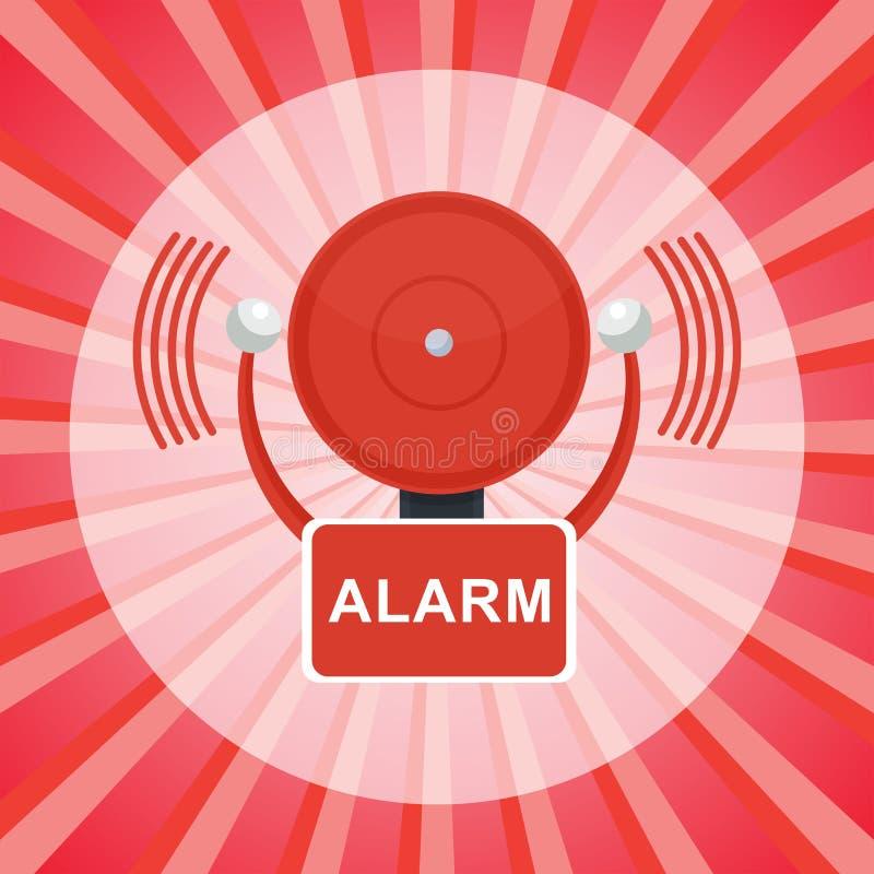 Pożarniczego alarma plakat ilustracji