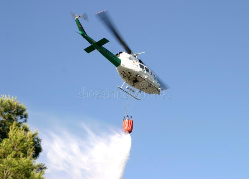 Pożarniczego działu helikopter 012 zdjęcie stock