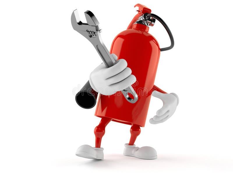 Pożarniczego gasidła charakter trzyma nastawczego wyrwanie ilustracji