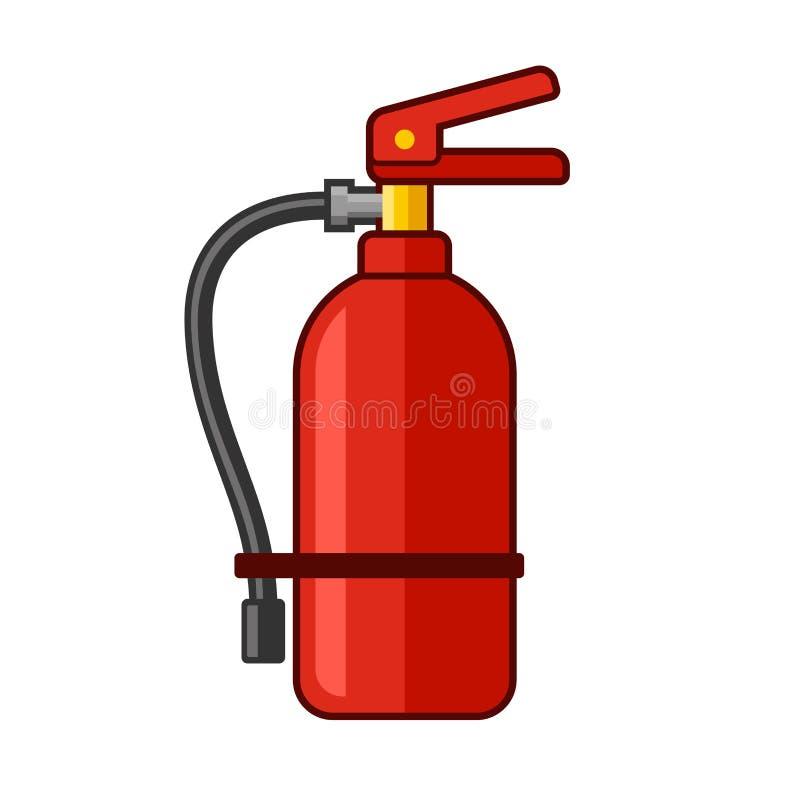 Pożarniczego gasidła ikona Mieszkanie styl wektor ilustracja wektor