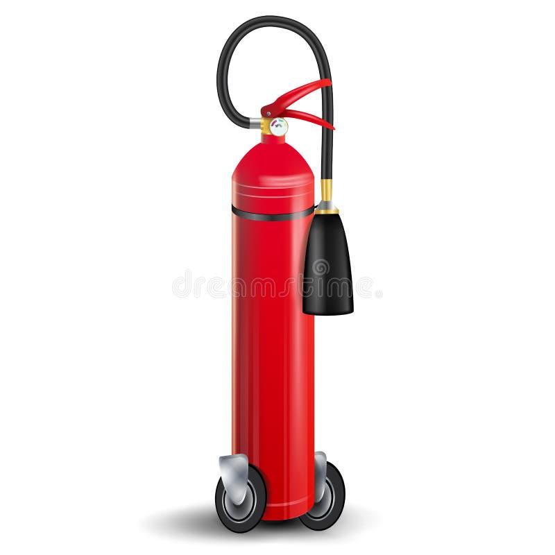 Pożarniczego gasidła wektor Szyldowy 3D Realistyczny Czerwony Pożarniczy gasidło Odizolowywał ilustrację royalty ilustracja
