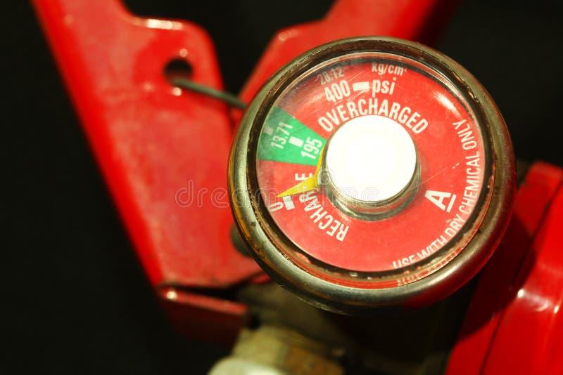 Pożarniczego gasidła wymiernika pokazu scena obraz stock