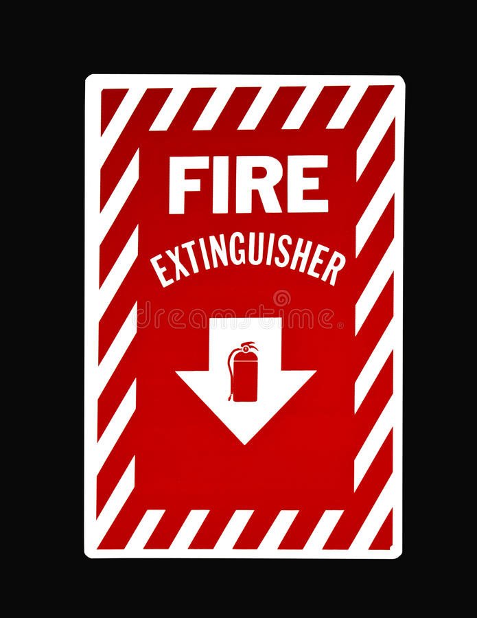 Pożarniczego gasidła znak ilustracji
