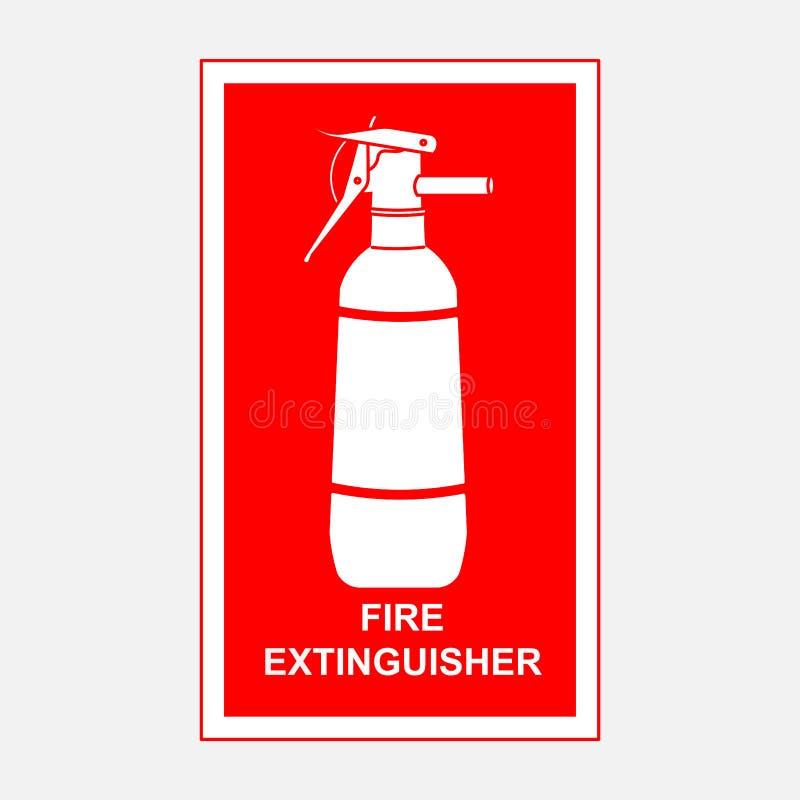 Pożarniczego gasidła znak, ochrona royalty ilustracja