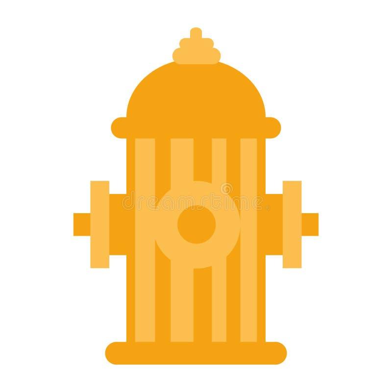 Pożarniczego hydranta ikona ilustracji
