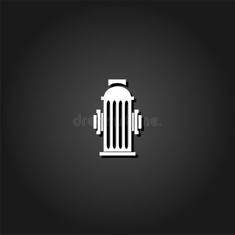 Pożarniczego hydranta ikony mieszkanie ilustracja wektor