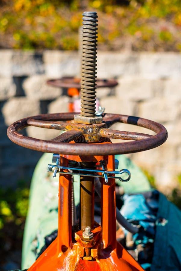 Pożarniczego hydranta Kontrolna klapa zdjęcie royalty free