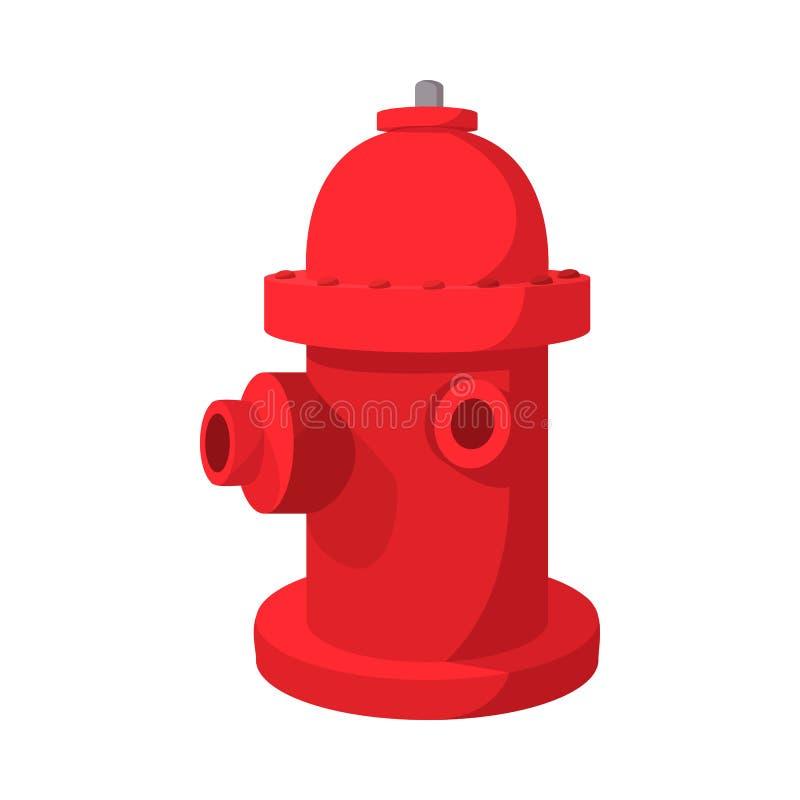 Pożarniczego hydranta kreskówki ikona ilustracja wektor