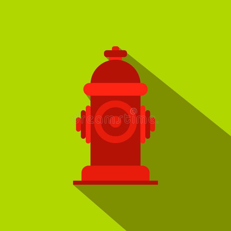 Pożarniczego hydranta mieszkania ikona ilustracja wektor