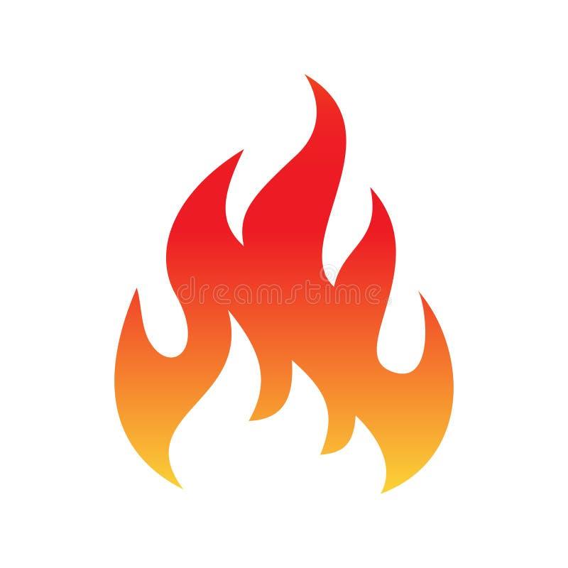 Pożarniczego płomienia barwiona ikona royalty ilustracja