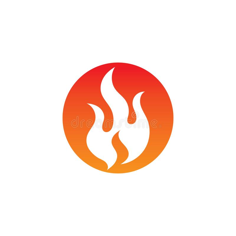pożarniczego płomienia gorący logo i symbol ilustracja wektor
