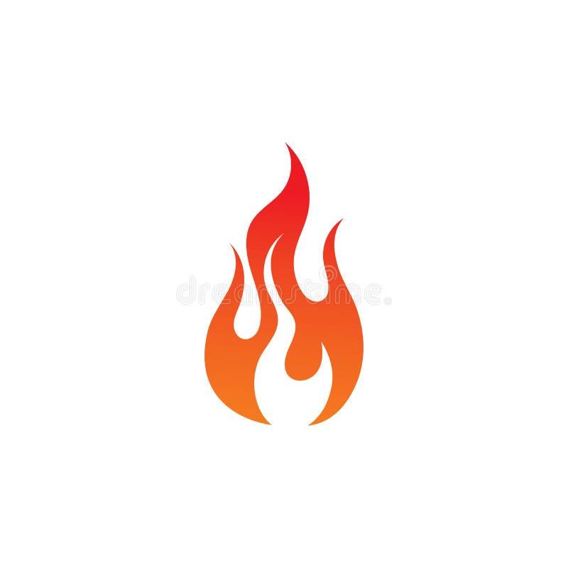 pożarniczego płomienia gorący logo i symbol ilustracji