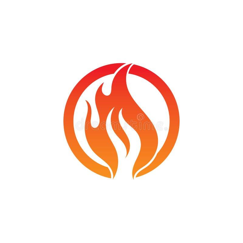 pożarniczego płomienia gorący logo i symbolu wektor royalty ilustracja