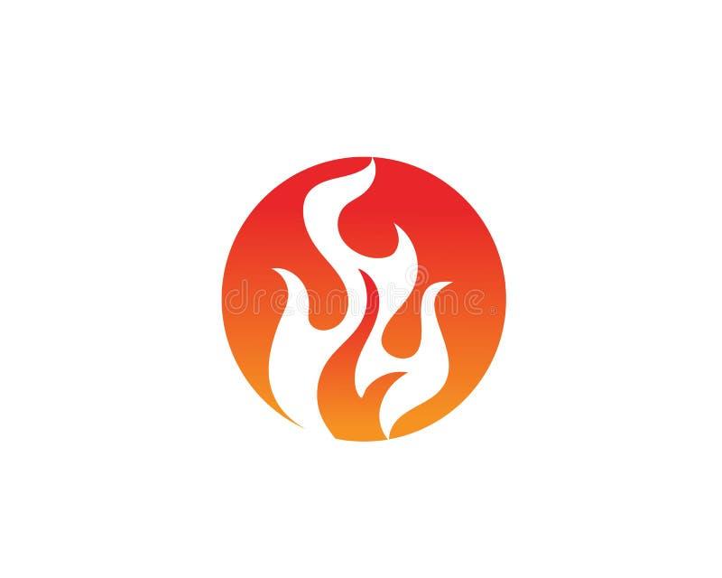Pożarniczego płomienia loga szablonu ikony wektorowy olej, gaz i energia logo, ilustracja wektor