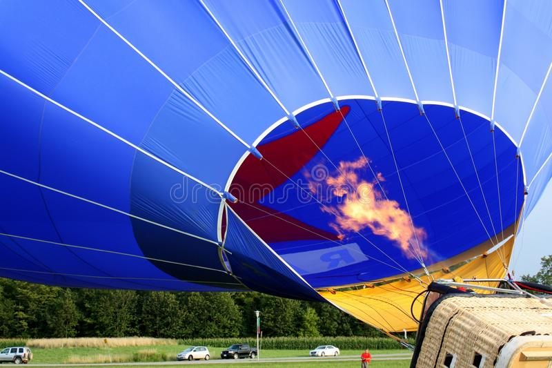 Pożarniczego wybuchu Lotniczy balon obrazy royalty free
