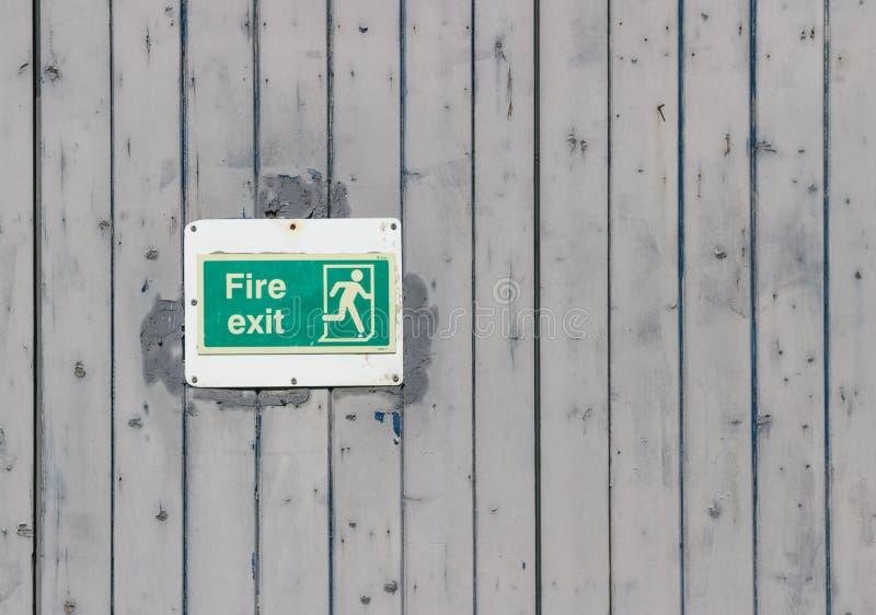Pożarniczego wyjścia znak zdjęcie royalty free