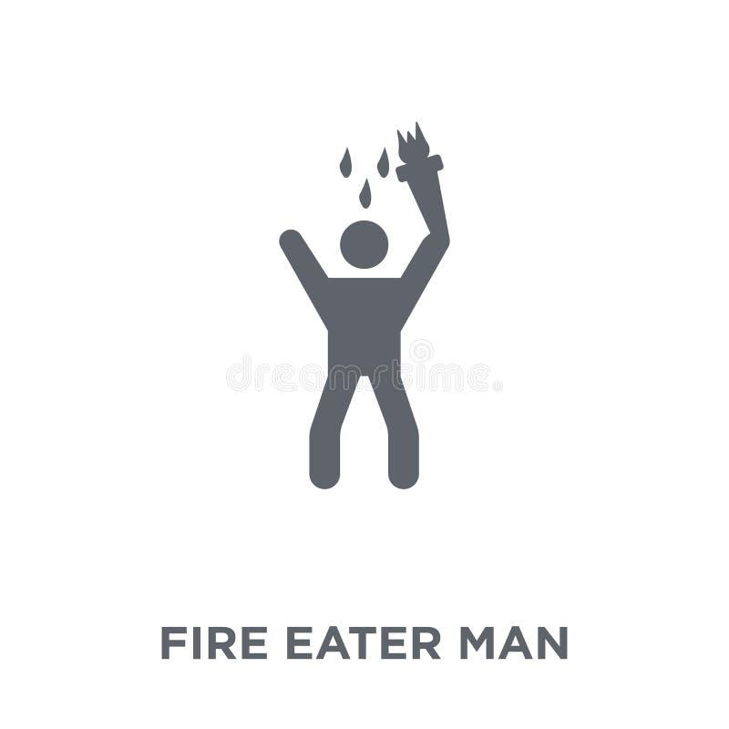 Pożarniczego zjadacza mężczyzny ikona od Cyrkowej kolekcji ilustracja wektor