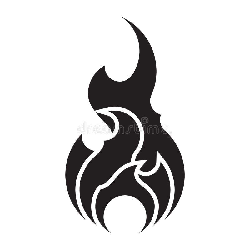 Pożarniczej ikony wektorowy szablon odizolowywający Płaski płomienia logo projekta element P?onie symbol sylwetk? ilustracja wektor