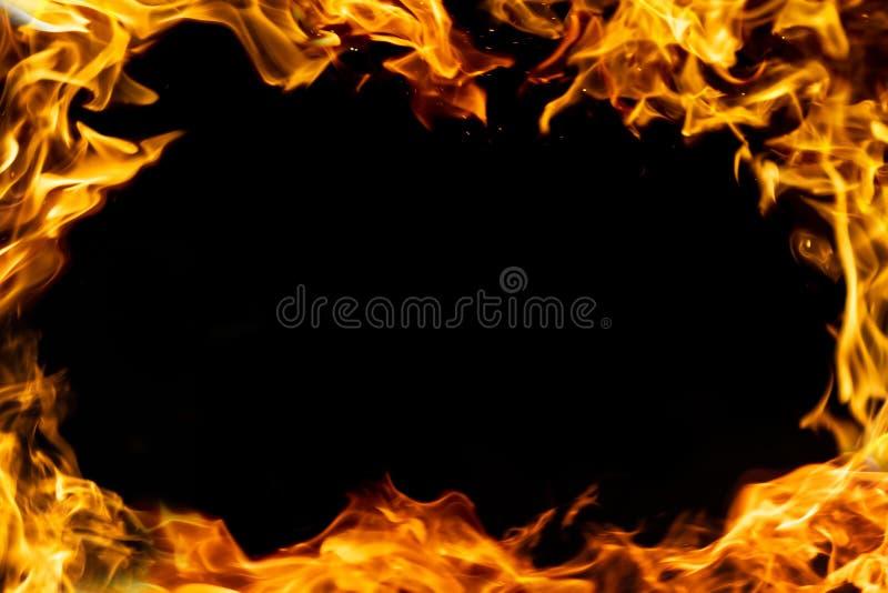 Pożarniczej ramy odosobniony czerń obraz stock