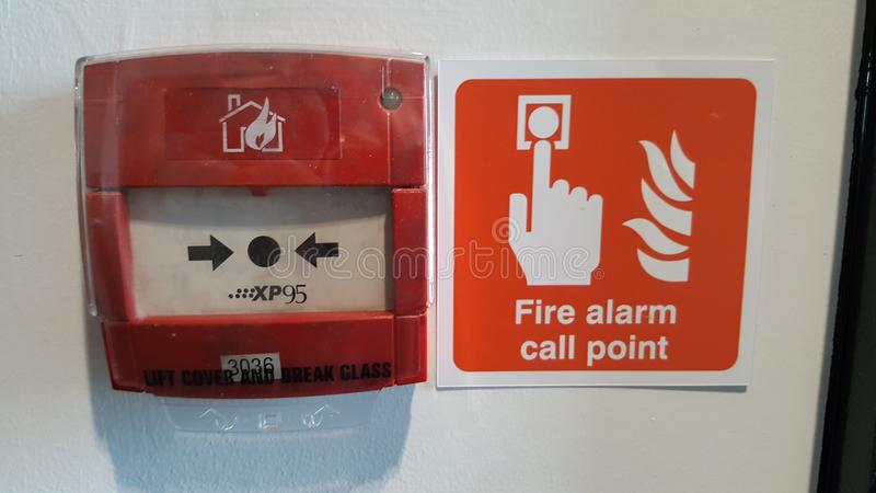 Pożarniczy Alarmowego wezwania punkt fotografia royalty free
