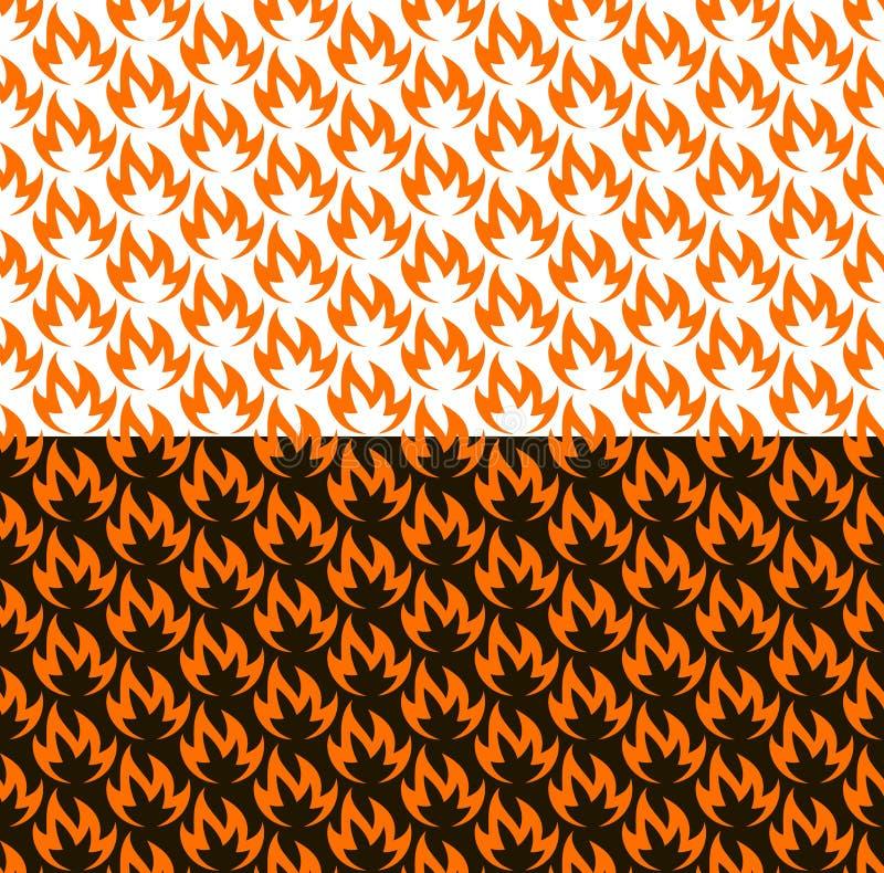 Pożarniczy bezszwowy wzór na czarny i biały royalty ilustracja