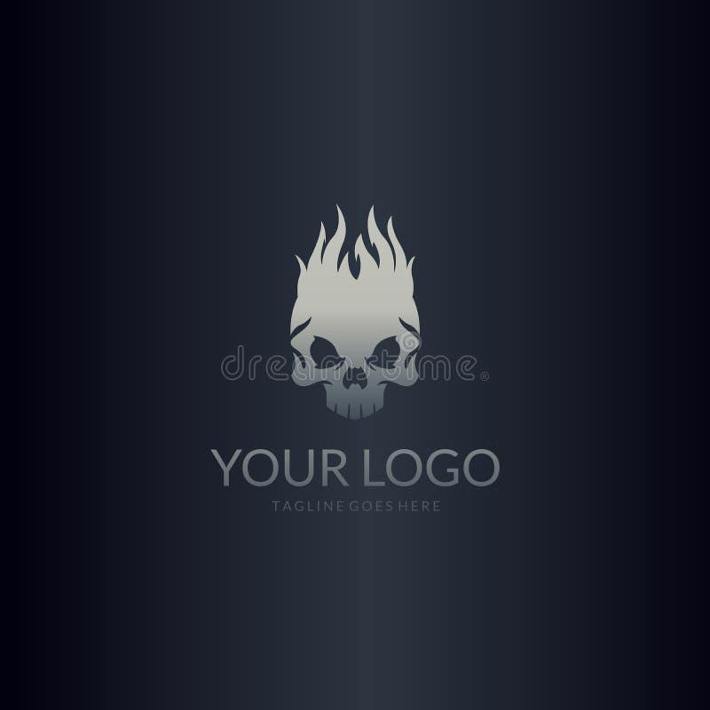 Pożarniczy czaszka logo ilustracja wektor