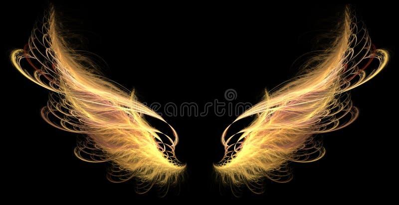 pożarniczy demonów skrzydła ilustracja wektor