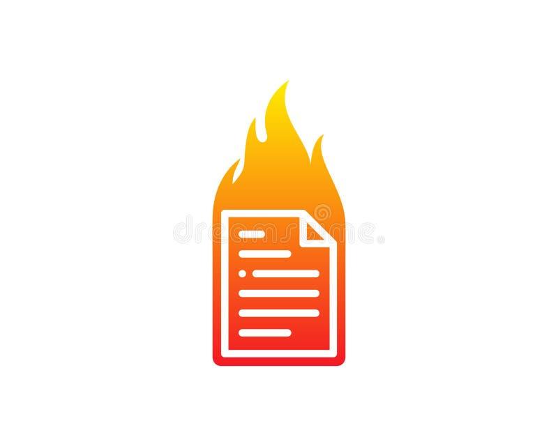 Pożarniczy dokument ikony loga projekta element ilustracja wektor