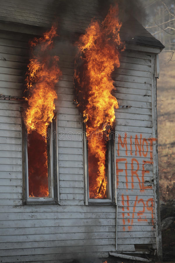 pożarniczy dom obraz royalty free