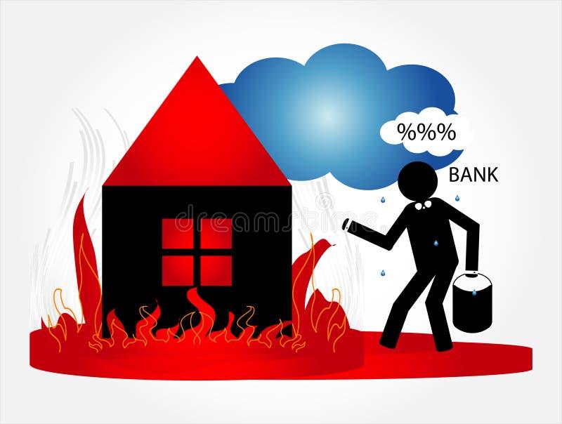 pożarniczy dom royalty ilustracja
