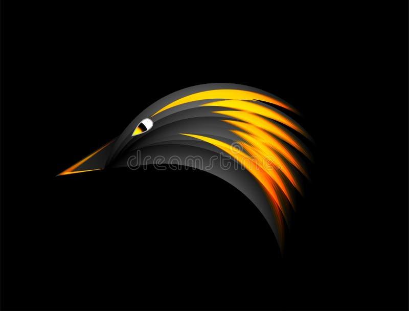 Pożarniczy Eagle z ciemnym tłem royalty ilustracja