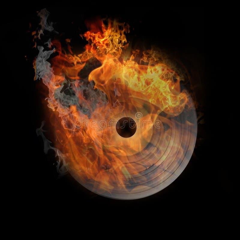 pożarniczy gorący prawdziwy winyl ilustracji